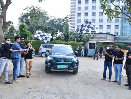 Tata Nexon EV 'Mileage Challenge Rally' in Pune.