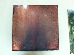 Faux Torched Copper Sample