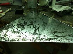 Detail of Antique Mirror Floor
