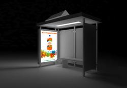 Solar Transit-Shelter Advertisement Lighting