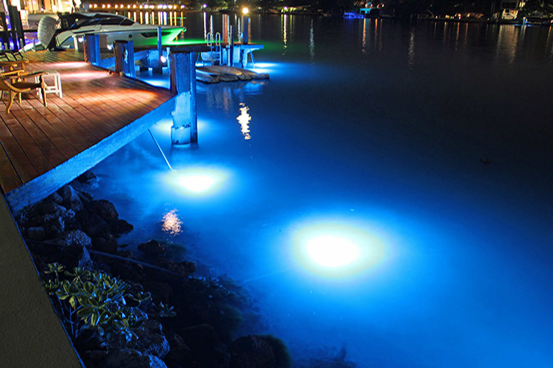 Underwater Dock Lights Miami Beach