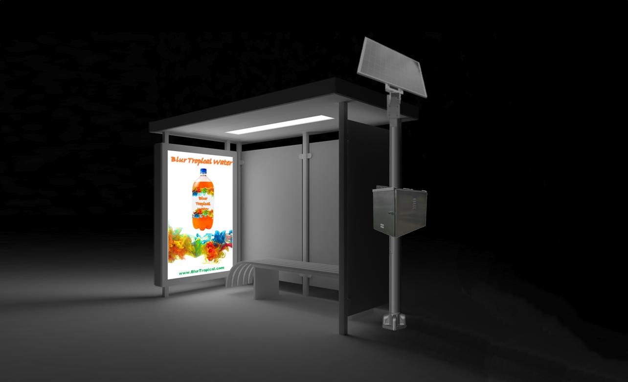 Transit-Shelter Solar Lighting Kit
