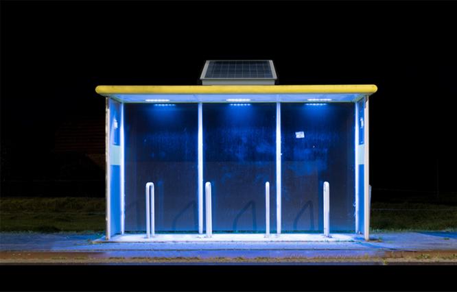 Bus Stop Lighting Solar-Powered