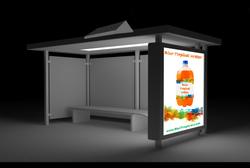 Transit-Shelter Advertisement Solar Lighting