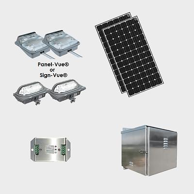 EcoLiteco Solar Roadway Guide Sign Light