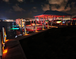 RGB Underwater Dock Lighting Orange Beach
