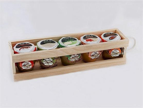 Caja de madera 5 patés