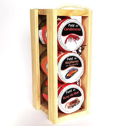 Caja de madera 3 patés