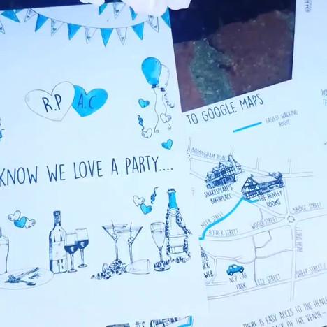 Video Exploration of wedding stationery