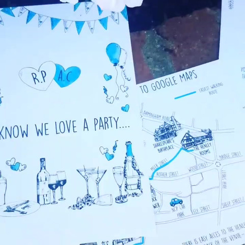 Video Exploration of wedding stationery
