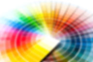 Color palette, guide of paint samples, c