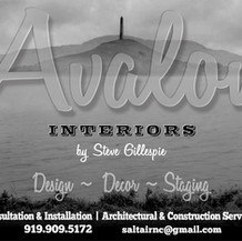 half-page ad for interior design firm