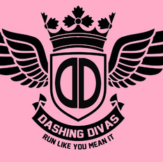 logo for marathon team running in breast cancer fundraiser