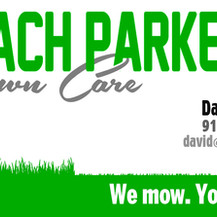 business card for lawn care service