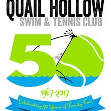 anniversary logo and swim club membership directory