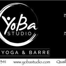 business card for yoga studio
