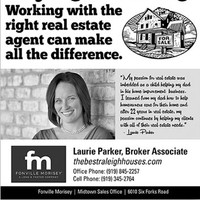 full-page ad for FM real estate agent