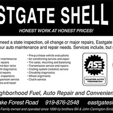 half-page ad for service station