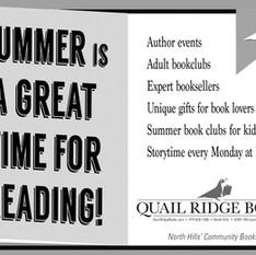 half-page ad for Quail Ridge Books