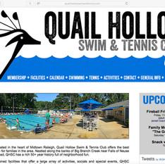 logo and web design for swim and tennis club