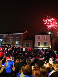 Fireworks at the Middlewich Lights Switch On