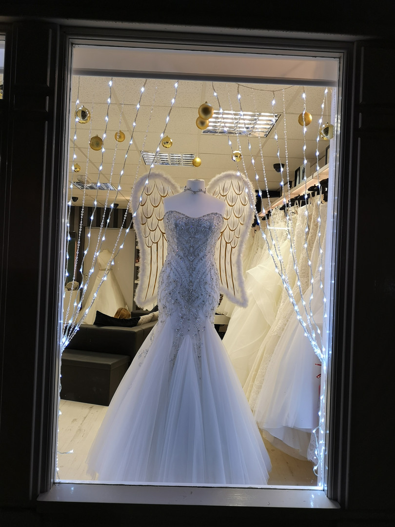 Willow Bridal Boutique, Wheelock Street. What a beautiful display!
