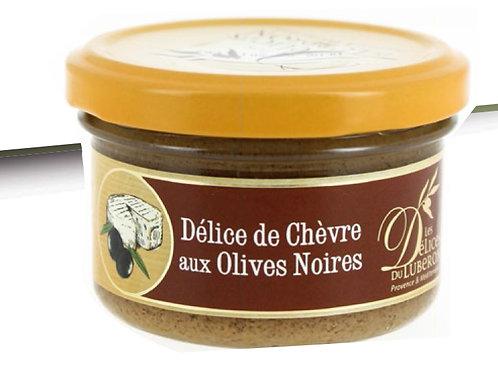DELICE DE CHEVRE AUX OLIVES NOIRES 90g