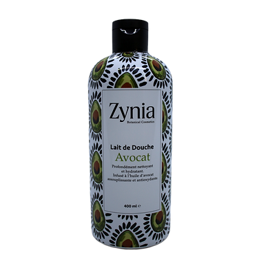 Lait de Douche Avocat Zynia By Aseptika Lab