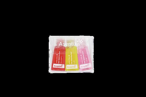 Gel Mains Propres Pocket 30ml Pack de 3( Fraise, Cupckake et Vanille )