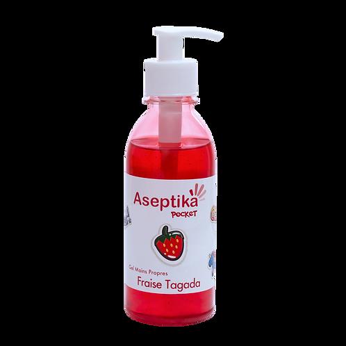 Recharge Gel Mains Propres Aseptika Pocket 250 ml Fraise Tagada