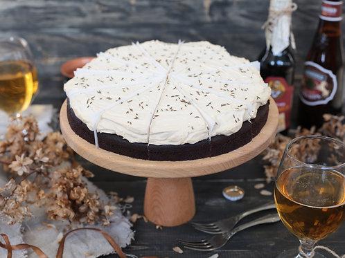 Торт «Брауни с пивным кремом и тмином»