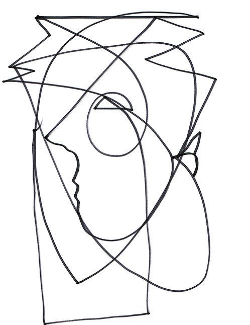 PAi Pen & Ink Faces #7