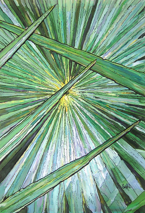 Vertical Palm Closeup - LARGE