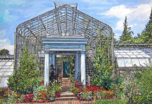Conservatory in Summer - SMALL