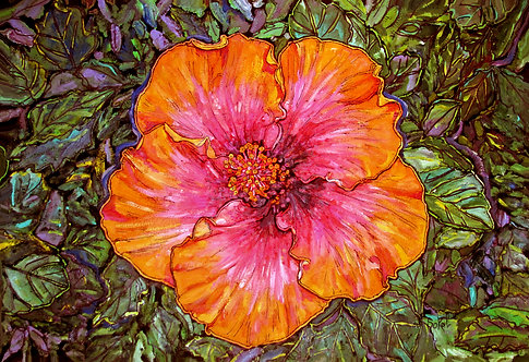 Fiery Hibiscus - LARGE
