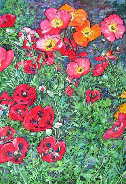 Poppies Close Up - LARGE