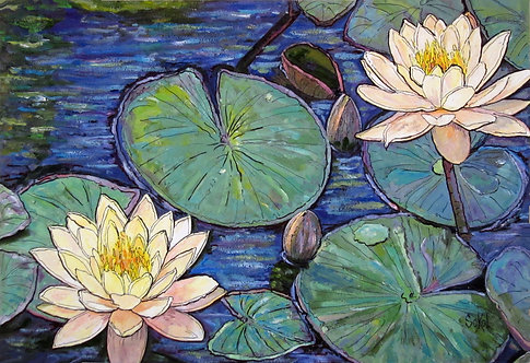 Lily Pond Close Up - LARGE