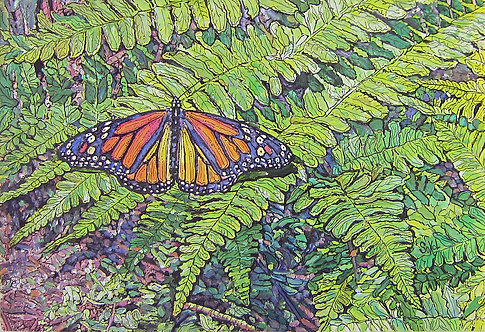 Butterfly & Fern - LARGE