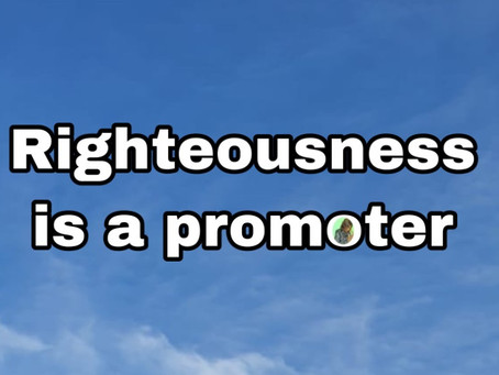 TODAY'S PRAYER: I SHALL WALK IN RIGHTEOUSNESS