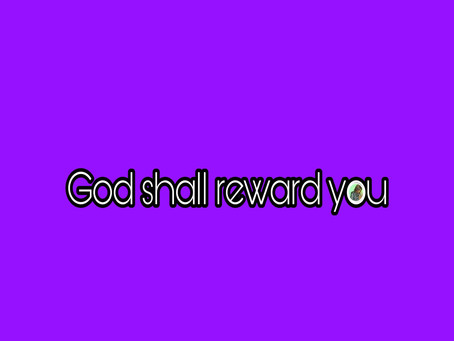 TODAY'S PRAYER: MY SEASON OF REWARD