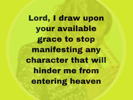 TODAY'S PRAYER: HEAVEN IS MY ULTIMATE HOME