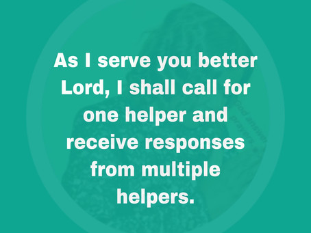 TODAY'S PRAYER: JUST ONE CALL
