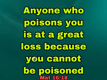 TODAY'S PRAYER: WITHIN IS A POISON KILLER