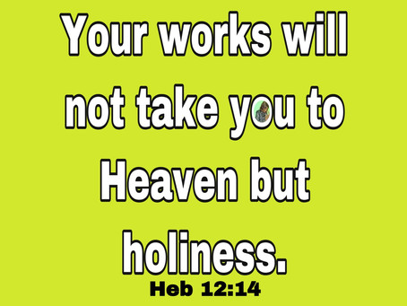 TODAY'S PRAYER: BE HOLY!