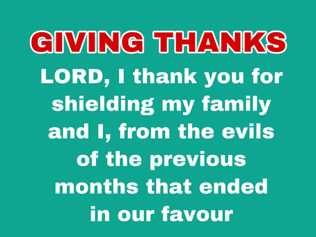 TODAY'S PRAYER: THANK YOU, LORD