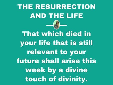 TODAY'S PRAYER: A TOUCH OF RESURRECTION