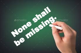 TODAY'S PRAYER: NONE SHALL BE MISSING!