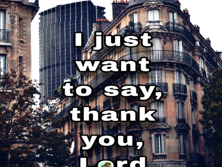 TODAY'S PRAYER: THANK YOU.