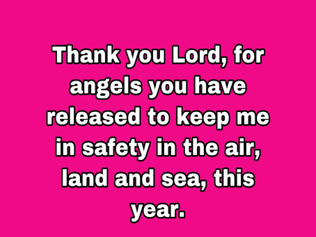 TODAY'S PRAYER: SAFETY IS MY PORTION!