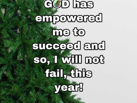 TODAY'S PRAYER: FAILURE IS NOT IN MY DNA